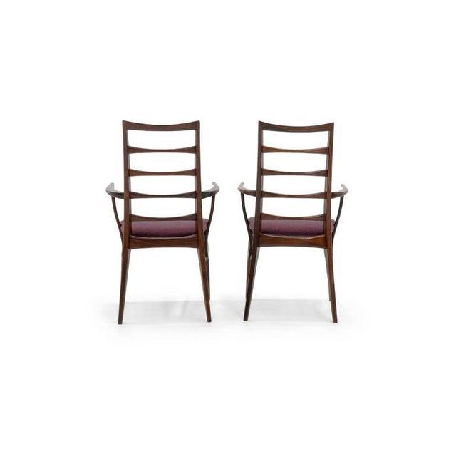 "Koefoeds Hornslet Pair of Rosewood ""Lis"" Dining Armchairs by Niels Koefoed for Koefoed Hornslet For Sale - Image 4 of 9"
