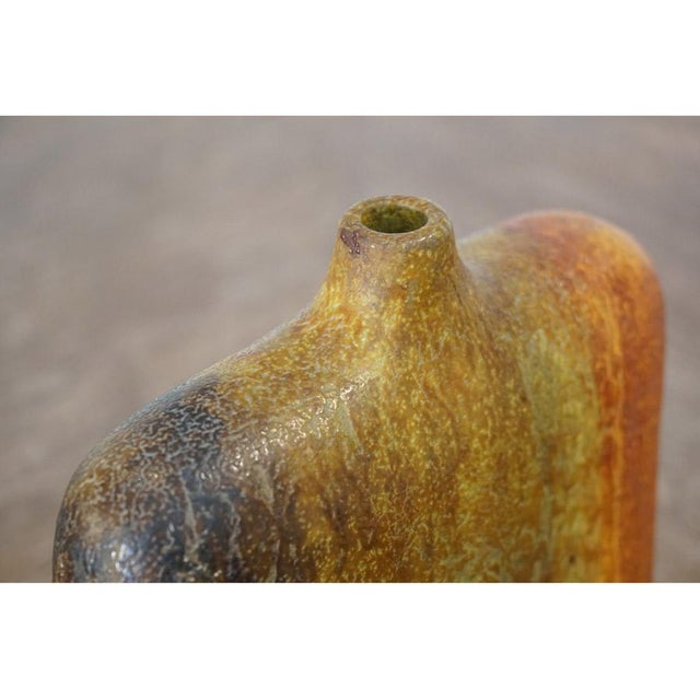 Ceramic Marcello Fantoni Wide Should Vase For Sale - Image 7 of 9