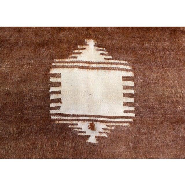 Boho Chic Nomadic Yoruk Tribe Hand-Woven Angora Blanket For Sale - Image 3 of 6