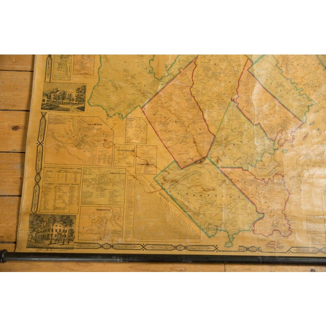 1860s Cumberland County Maine Wall Map Featuring Portland For Sale In New York - Image 6 of 11