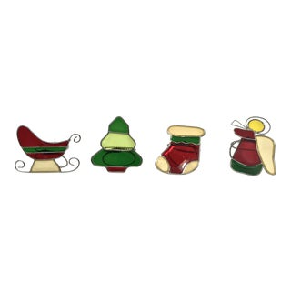 Whimsical Holiday Napkin Rings - Set of 4