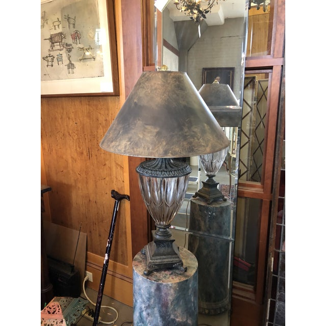 Vintage Neoclassical Crystal Table Lamp For Sale - Image 13 of 13