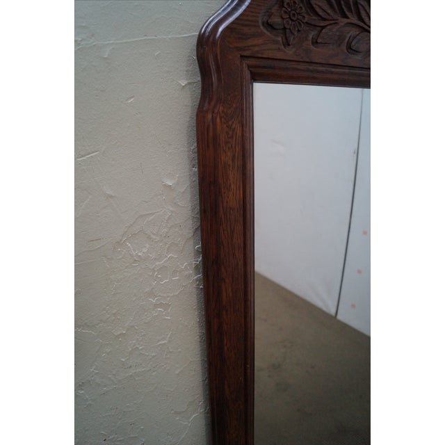 Solid Oak Frame French Country Style Wall Mirror For Sale In Philadelphia - Image 6 of 10