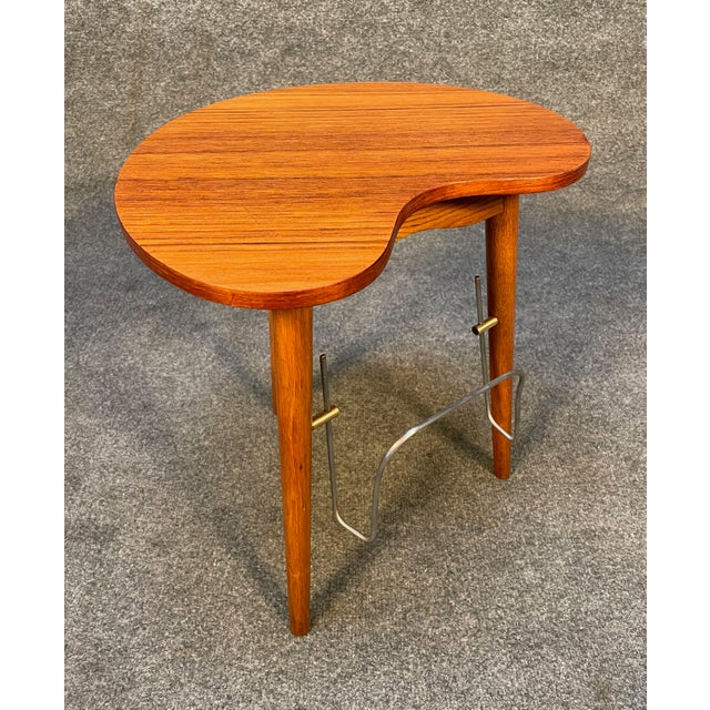 "Mid-Century Modern Vintage Danish Mid Century Modern ""Gorm"" Side Table by Edmund Jørgensen For Sale - Image 3 of 9"