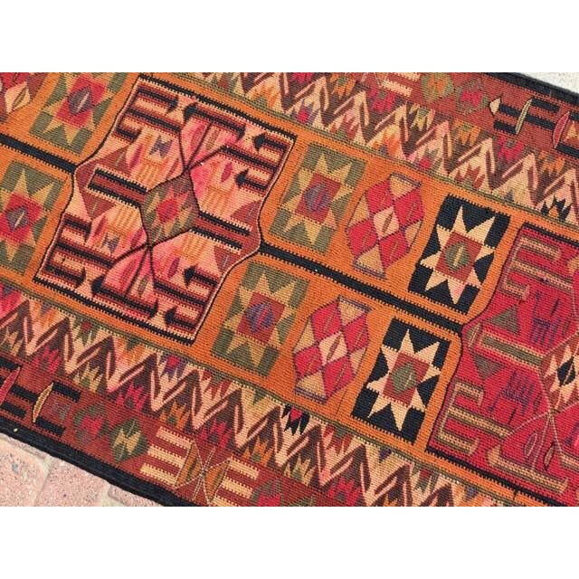 Vintage Turkish Kilim Runner - 2′11″ × 12′4″ For Sale In Raleigh - Image 6 of 8