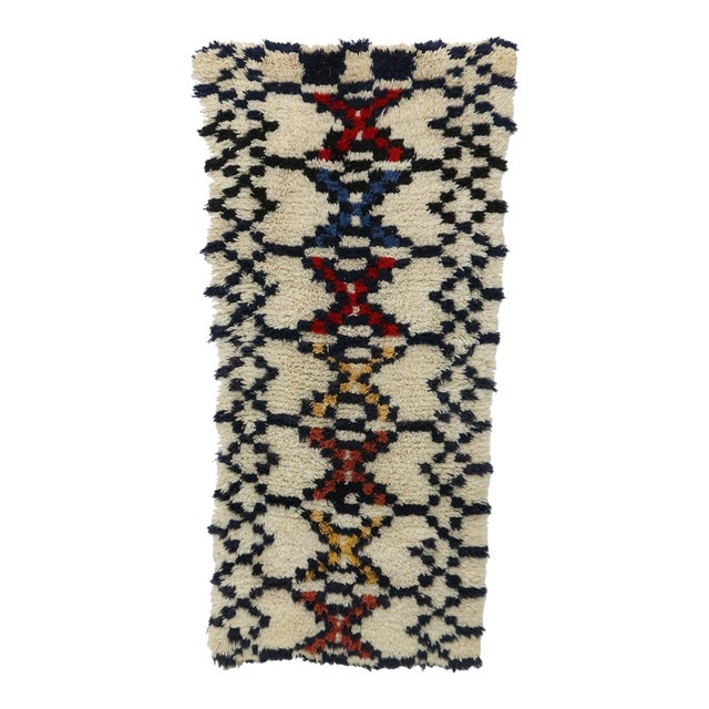 1980s Azilal Moroccan Rug - 3′ × 6′3″ For Sale