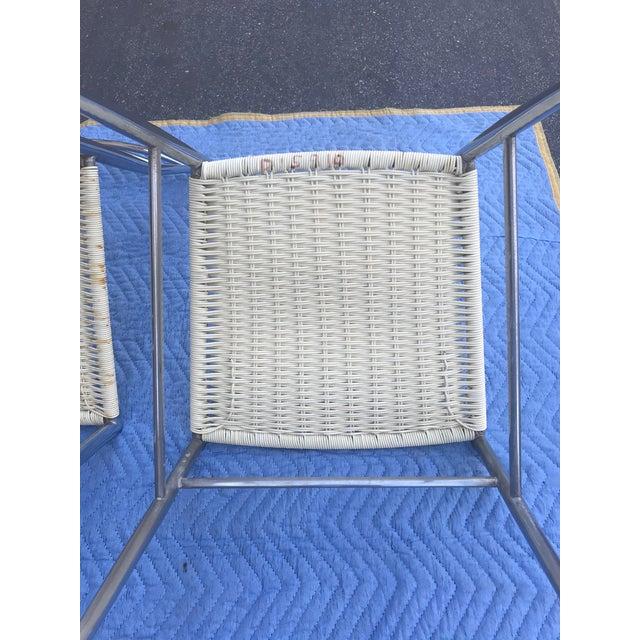 White 1960s Vintage Gio Ponti Chrome Superleggera Chairs - Set of 4 For Sale - Image 8 of 13