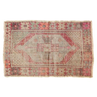 "Vintage Distressed Oushak Rug - 2'8"" X 4'3"" For Sale"
