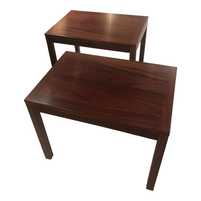 Mobelfabrick Danish Mid Century Modern Richly Grained End Tables - a Pair For Sale