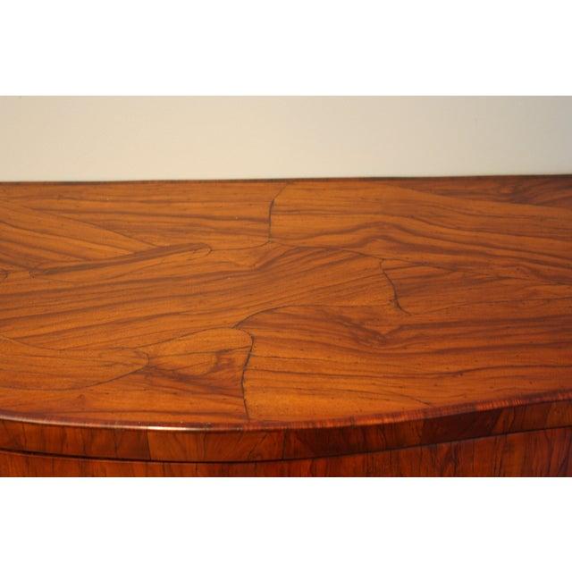 Mid-Century Italian Olive Wood Commode - Image 5 of 11