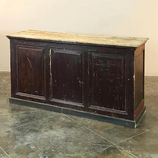 Mid 19th Century 19th Century Rustic County French Store Counter For Sale - Image 5 of 11