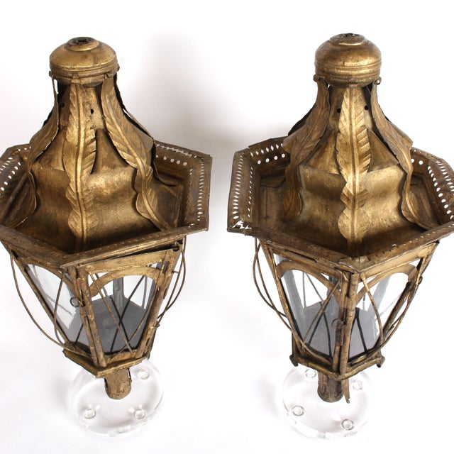 Pair of 19th Century Italian Processional Lanterns For Sale - Image 4 of 11