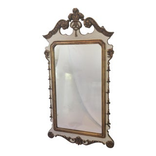 Carved and Partial Gilt Mirror by Berkey & Gay For Sale