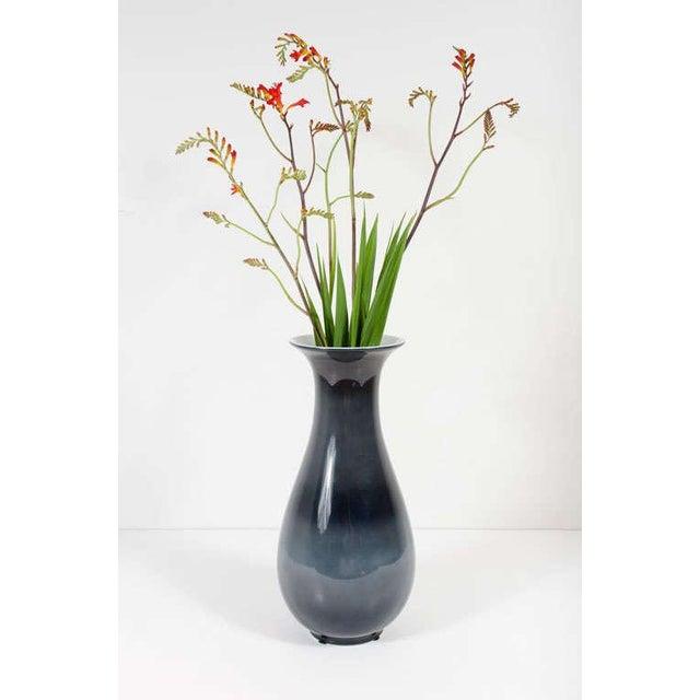 Italian Richard Ginori Blue Urn Shaped Porcelain Vase For Sale - Image 3 of 6