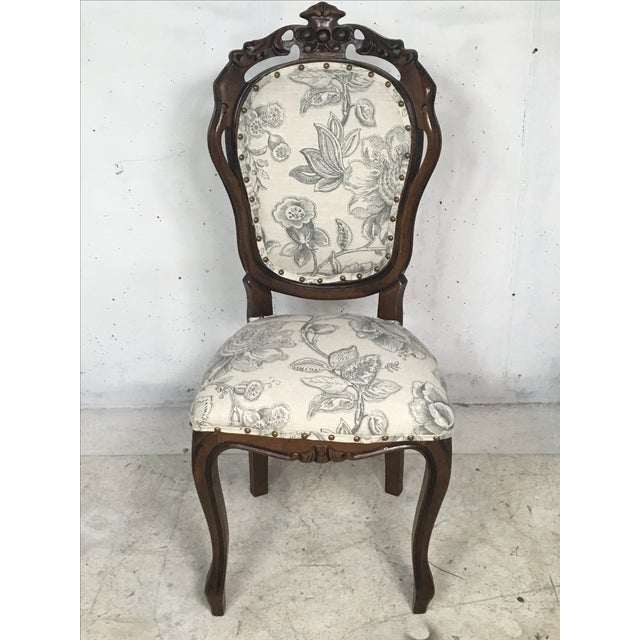 Antique French Game Table and Chairs - Set of 5 - Image 3 of 9