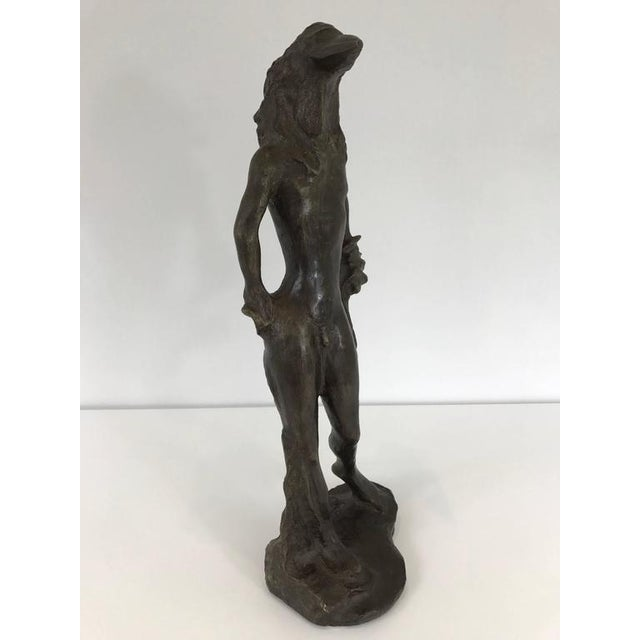 Excellent mid-20th century Birdman bronze sculpture after Salvador Dali.
