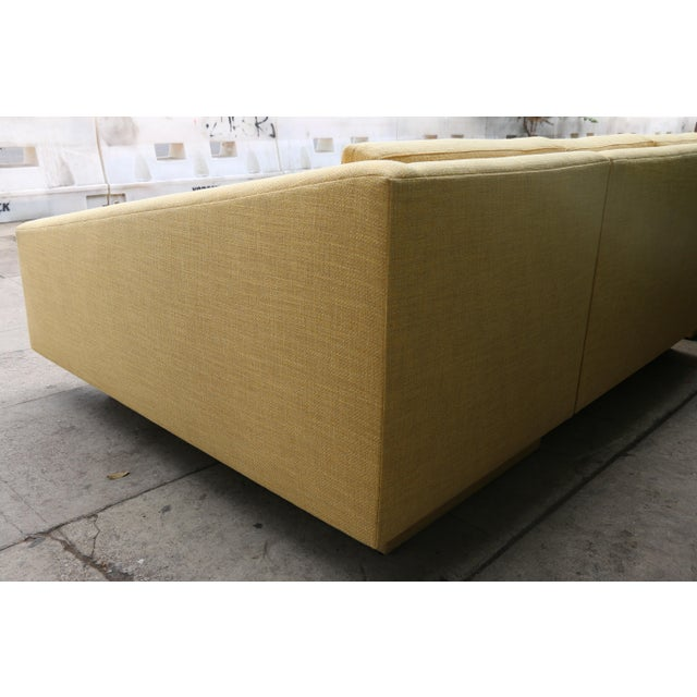 Yellow Sectional Sofa For Sale - Image 9 of 11