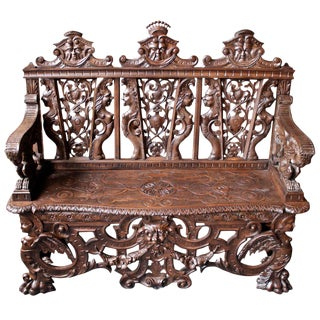 Antique Italian Hall Bench For Sale