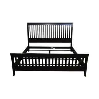 Ethan Allen American Impressions Black Painted King Bed For Sale