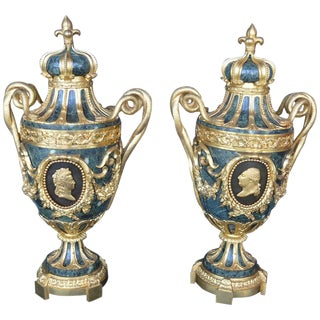 Pair of 19th Century Urns For Sale