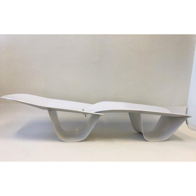 Set of Three Fiberglass Lounge Chases by Po Shun Leong For Sale In Palm Springs - Image 6 of 12
