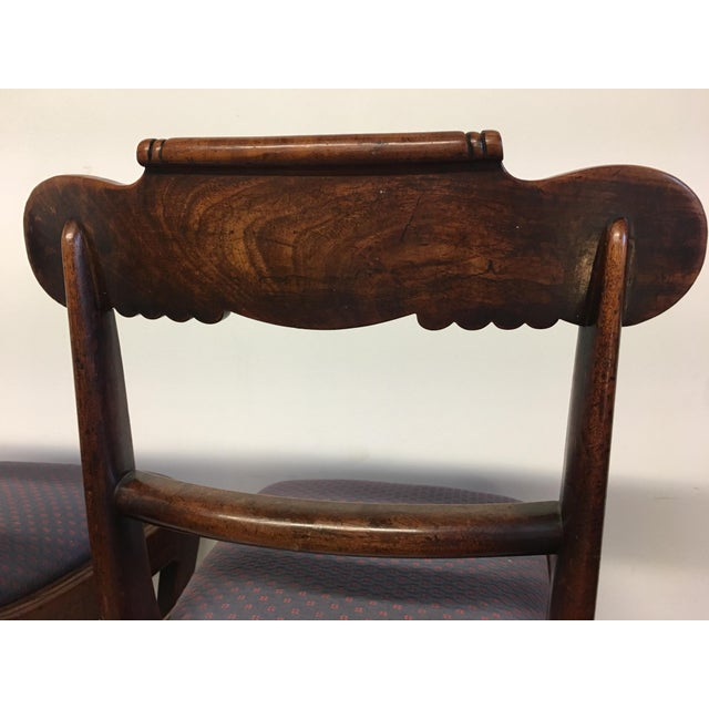 19th Century Antique English Mahogany Chairs - Set of 6 For Sale - Image 4 of 11