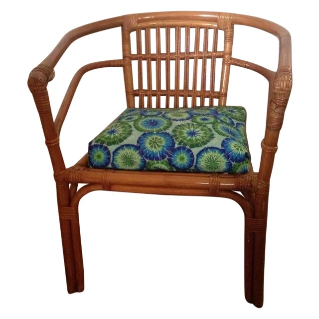 Vintage Mid-Century Rattan Side Chair - Image 1 of 6