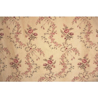 Fabric Shabby Chic Aged Patina Floral 137 Inches Cotton Upholstery Weight For Sale