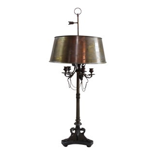 "French Bronze ""Candelabrum"" Lamp For Sale"
