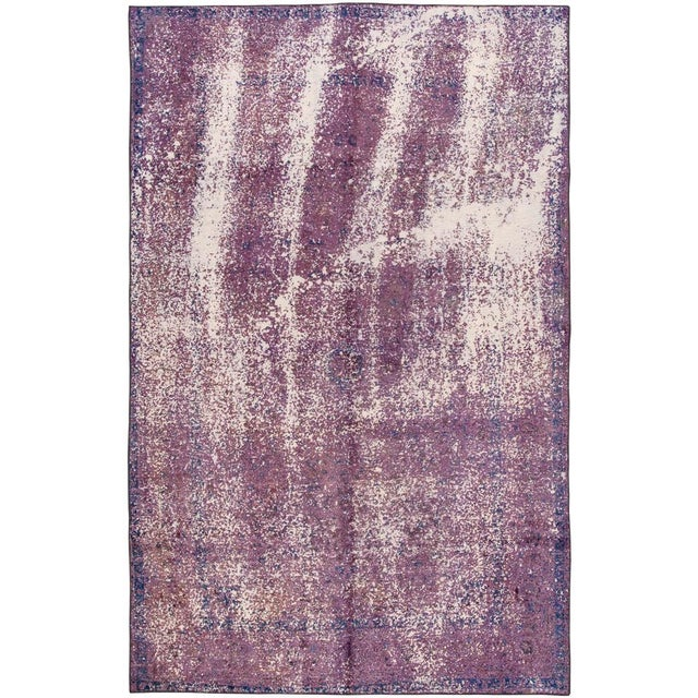 Textile Vintage Overdyed Rug For Sale - Image 7 of 7