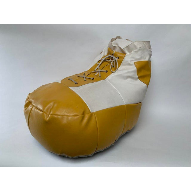1970s White and Yellow De Sede Sneaker Bean Bag Chair or Ottoman For Sale - Image 12 of 12