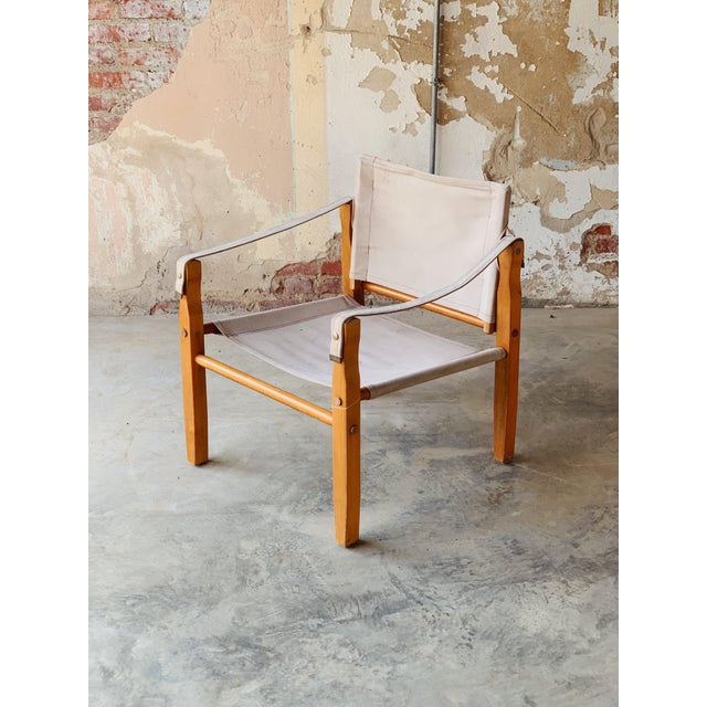 1970s Canvas Safari Chair For Sale - Image 5 of 5