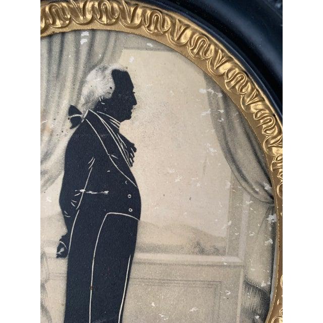 George Washington Silouhette, Framed For Sale - Image 4 of 7
