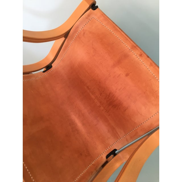 Metal Saddle Leather 'Chair B' by Cristian Valdes For Sale - Image 7 of 7