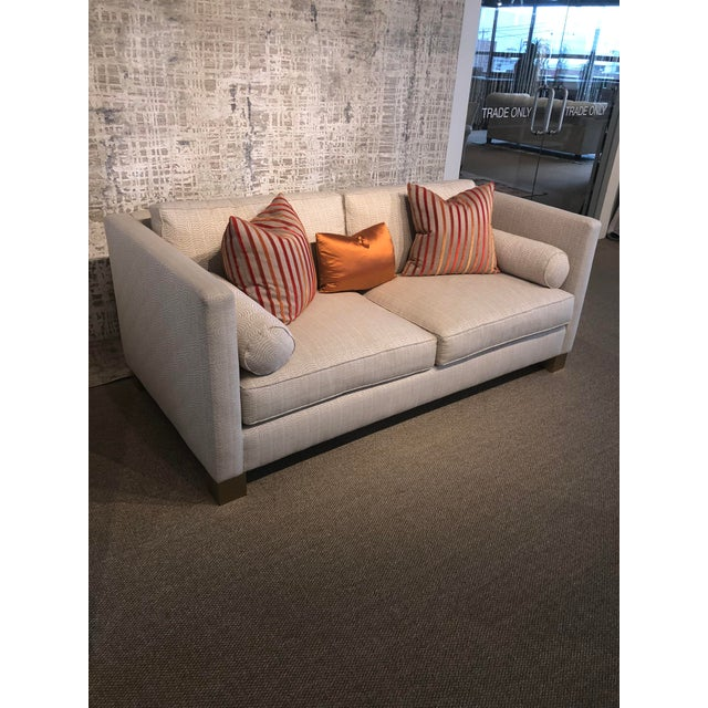 Traditional White Scalamandre Upholstered Sofa For Sale - Image 3 of 11