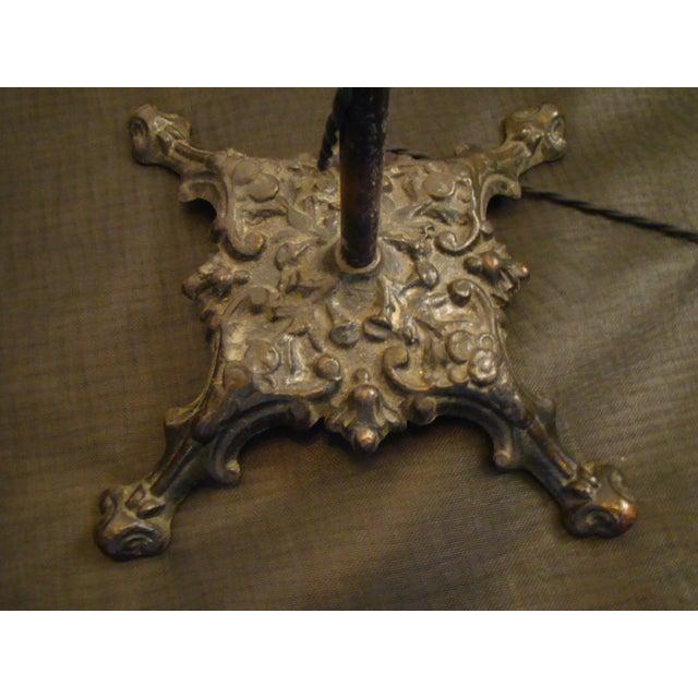 Antique Victorian Cast Iron Adjustable Floor Lamp - Image 3 of 11