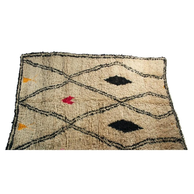 "Moroccan Vintage Beni Ourain Rug - 5'10"" X 8'5"" - Image 1 of 4"
