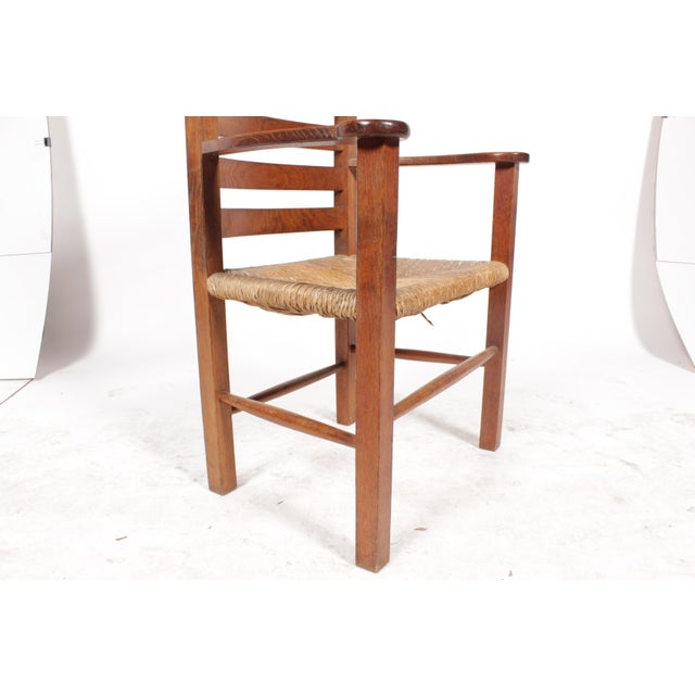 1930s Mission-Style Dining Chairs - Set of 6 - Image 9 of 11