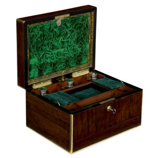 19th Century Antique English Regency Rosewood Jewelry Box