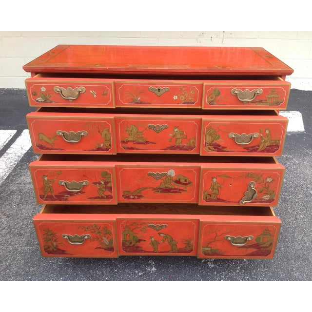 Baker Furniture Company Chinoiserie Chest by Baker For Sale - Image 4 of 13