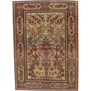 "Pasargad Antique Persian Isfahan Rug - 4'8"" X 6'6"" For Sale"