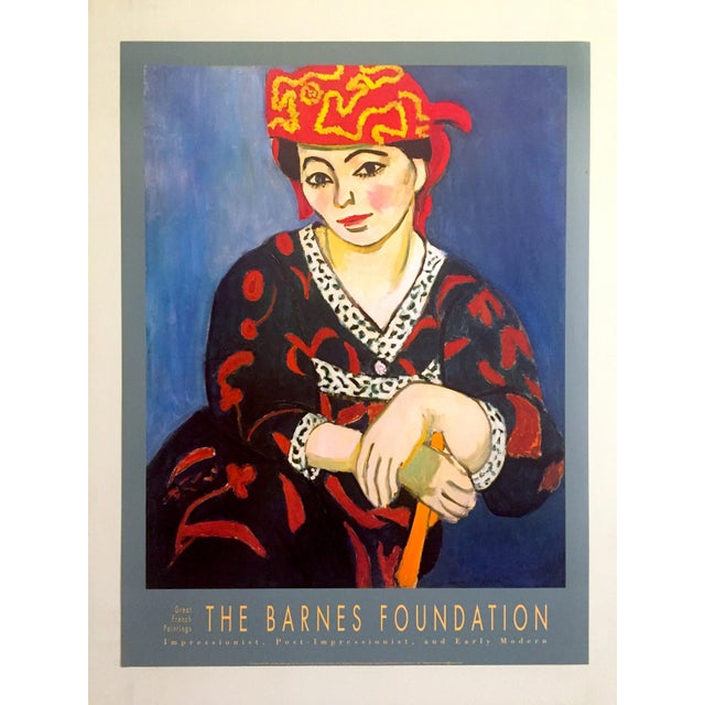 "Henri Matisse Vintage 1991 Lithograph Print Museum Poster "" Madame Matisse Madras Rouge "" 1907 For Sale - Image 11 of 13"