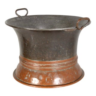 1930s Dual Color Copper Jardiniere For Sale