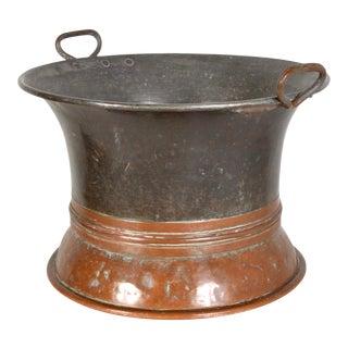 1930s Dual Color Copper Jardiniere For Sale