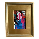 """Image of """"Ski Suit Adventure"""" 2021 Framed Mini Painting For Sale"""