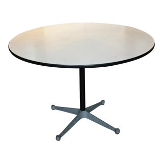 1960s Vintage Herman Miller Circular Iron Table For Sale