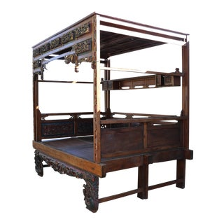 Antique Chinese Canopy Bedframe