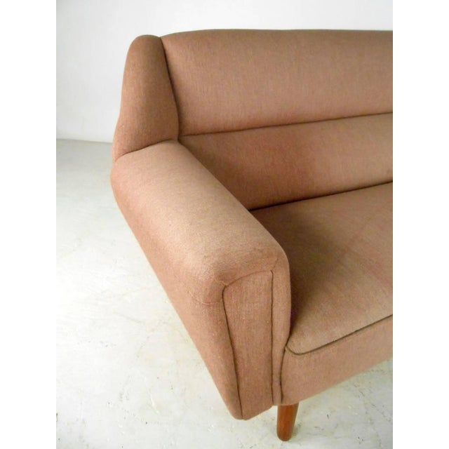 Pink Mid-Century Modern Sofa in the Style of Kai Kristiansen For Sale - Image 8 of 11
