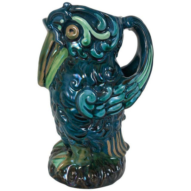 Longpark English Art Pottery Bird Pitcher For Sale - Image 13 of 13