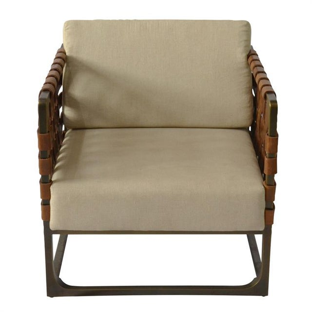 Modern Kenneth Ludwig Hugo Strap Leather Chair For Sale - Image 3 of 6